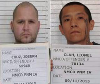 Image: Lionel Clah, right, and Joseph Cruz