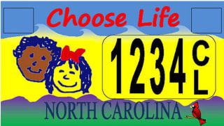 Image: North Carolina Choose Life plate