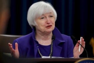 File picture shows U.S. Federal Reserve Chairman Yellen holding a news conference to announce raised interest rates in Washington