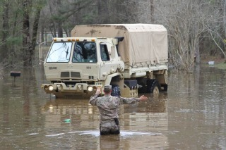 IMAGE: National Guard in Grant Parish, Louisiana