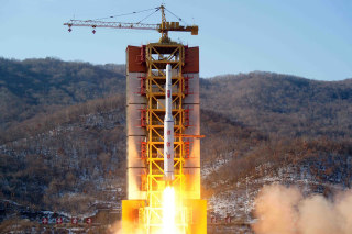 Image: NKOREA-MILITARY-SPACE-SATELLITE