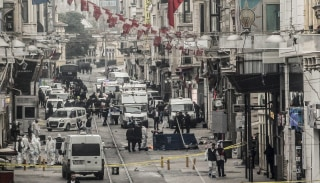Image: Bomb Explodes In Tourist Shopping Area Of Istanbul