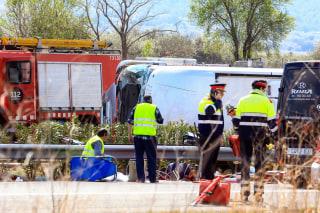 Image: Bus crash in Catalonia