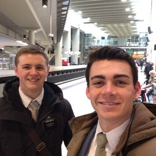Image: Elder Wells and Elder Empey Brussels Victim