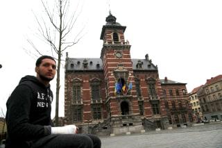 Image: Yassin Aanouz, 20, in Anderlecht area of Brussels