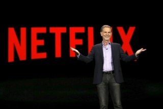 Reed Hastings, co-founder and CEO of Netflix, delivers a keynote address at the 2016 CES trade show in Las Vegas