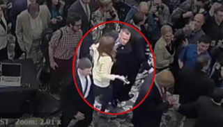 Image: Security footage showing Corey Lewandowski grabbing former Breitbart reporter Michelle Fields.