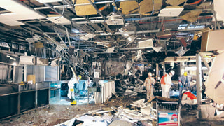 Image: Bomb damage in Brussels airport