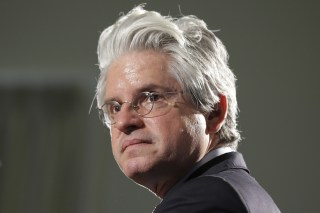 Image: David Brock speaks at the Clinton School of Public Service