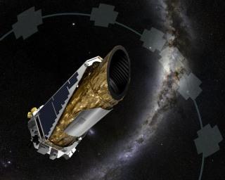 Image: Artist's illustration of Kepler spacecraft