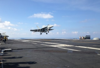 Image: FA-18 takes off from the USS John C. Stennis on April 15, 2016