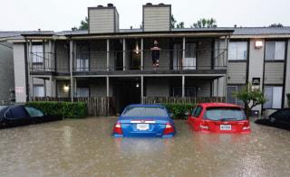 Image:  Flooded area Houston