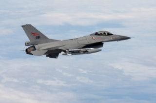 Image: Norwegian F-16 accompanying Russian Tu-95