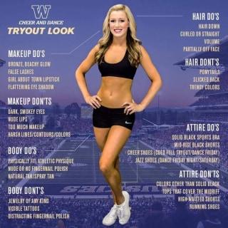 IMAGE: University of Washington cheerleader flyer