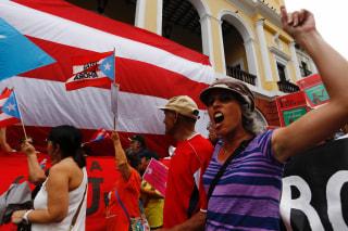 Image: Protest in San Juan, Puerto Rico