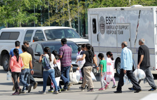 Image: Fort McMurray evacuees in Edmonton