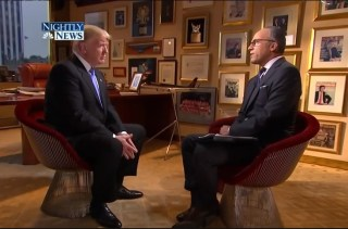 IMAGE: Donald Trump and Lester Holt