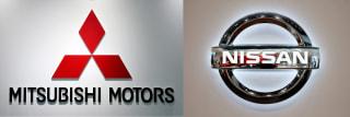 Image: Mitsubishi and Nissan logos