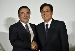 Image: Carlos Ghosn and Osamu Masuko