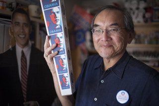 Image: Cary Jung has one of the nation's largest Obama memorabilia collections
