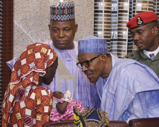 Image: Amina Ali Nkeki meets Nigerian president