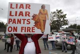 Image: Hillary Clinton protester