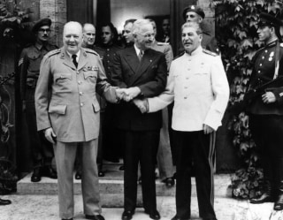 Stalin, Harry Truman And Winston Churchill In Postdam