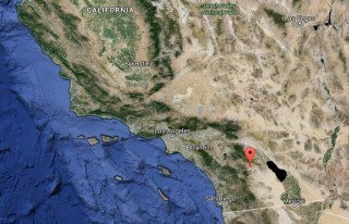Image: Map showing quake epicenter