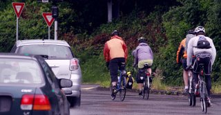 Image: bicyclist riding