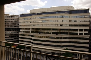 Image: The Watergate Hotel office building on May 31, 2005 in Washington