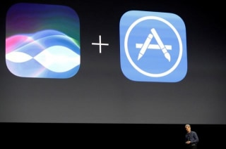 Craig Federighi of Apple Inc., announces that the company's Siri assistant for iOS will be opened for developers at the company's World Wide Developers Conference in San Francisco, California