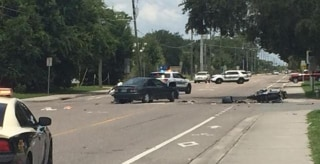 Image: Two Osceola County sheriff'??s deputies were injured in a crash that occurred during the funeral procession
