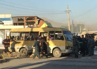 Image: Kabul minibus explosion