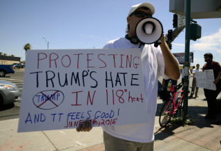 Image: Anti-Donald Trump protest in Arizona