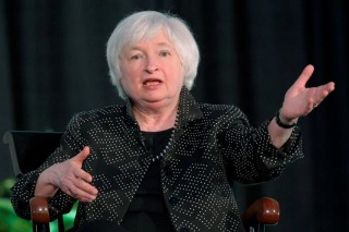 Federal Reserve Chair Janet Yellen speaks at the Radcliffe Institute for Advanced Studies at Harvard University in Cambridge