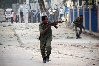 Image: Explosion and gunfire at Mogadishu hotel