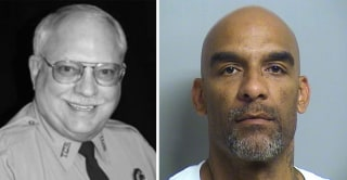 Image: Reserve Deputy Robert Bates, left, was involved in the shooting of suspect Eric Harris, right, after mistaking his service weapon for a stun gun