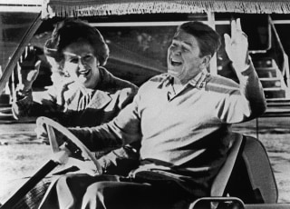 Image: Margaret Thatcher and Ronald Reagan in 1984