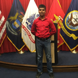 IMAGE: Marine recruit Raheel Siddiqui