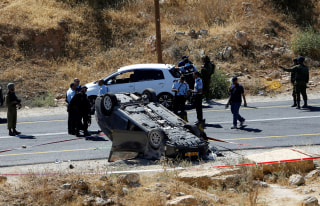 Image: Israeli security forces gather at the scene