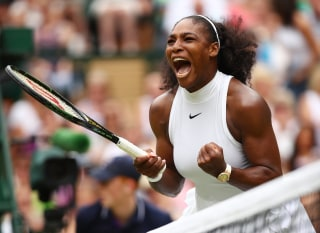 Image: Serena Williams of The United States celebrates during The Ladies Singles Final against Angelique Kerber of Germany