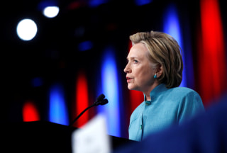 Image: Democratic U.S. presidential candidate Hillary Clinton speaks at the U.S. Conference of Mayors 84th Annual Meeting in Indianapolis