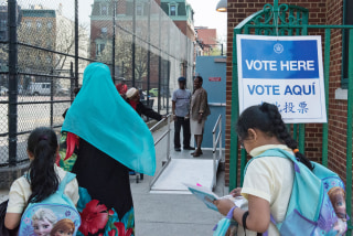 New Yorkers Head To The Polls To Vote In The State's Primary