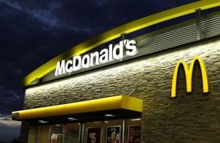 A McDonald's restaurant is pictured in Encinitas, California