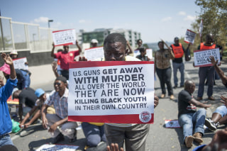 US Police's violence protested in South Africa