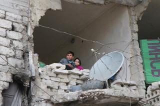IMAGE: Children in Aleppo