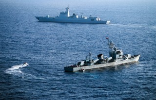 Image: China's South Sea Fleet during a drill on May 5, 2016