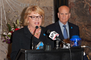Tommy & Dee Hilfiger And Bob & Suzanne Wright Light The Empire State Building In Celebration Of World Autism Awareness