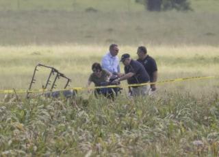 Image: Hot air balloon crash in Texas