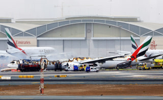 Image: Plane crash landed in Dubai airport